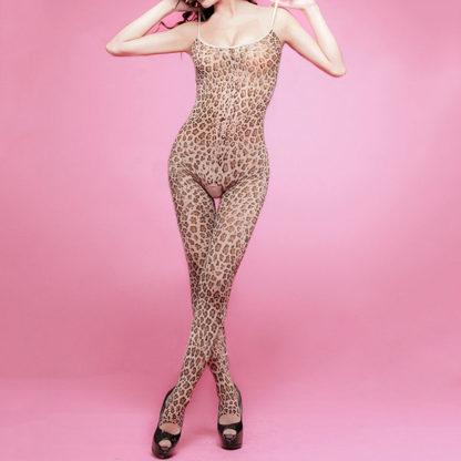 body estilo leopardo entrepierna abierta